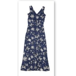 Vince Camuto XS Floral Sleeveless Dress Long